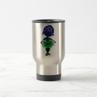 Miss-fit Green Tutu Ballerina Art Travel Mug