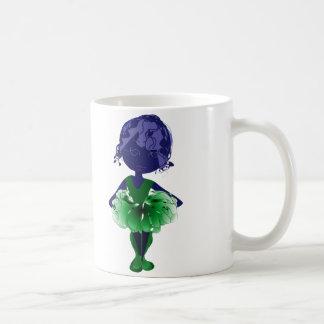Miss-fit Green tutu Ballerina digital art Coffee Mug