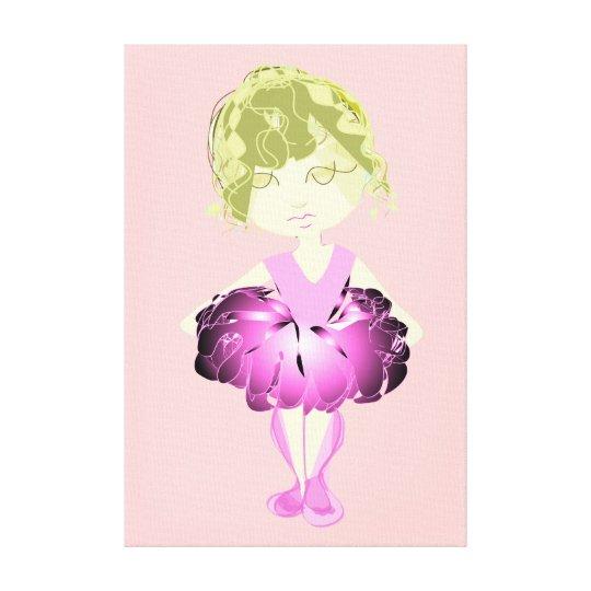 Miss-fit Pink Ballet dancer Wrapped Canvas