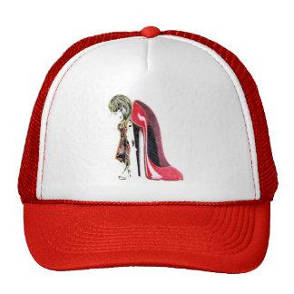 Miss-fit Red Girl loves Stiletto's Digital Art Trucker Hat