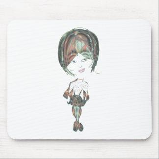 Miss-fit River Digital Girl art Mouse Pad