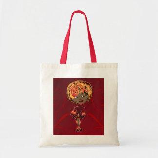 Miss-fit Scarlet Digital Girl Art Tote Bag