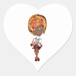 Miss-fit Zena Digital Art Design Heart Sticker