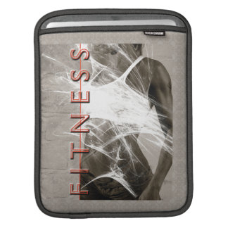 Miss Fitness Bodybuilding workout idol grey whitef iPad Sleeves