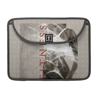 Miss Fitness Bodybuilding workout idol grey whitef Sleeve For MacBooks
