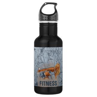Miss Fitness II - 18oz Water Bottle
