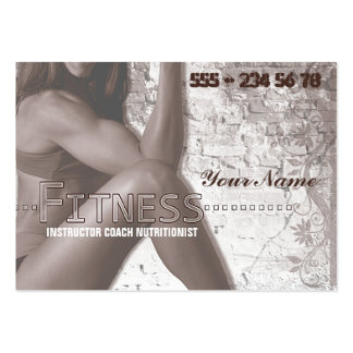 Miss Fitness III - Business-, Schedule Card Large Business Cards (Pack Of 100)
