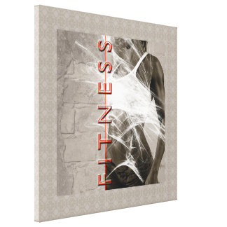 Miss Fitness weightlifting workout idol grey white Canvas Print