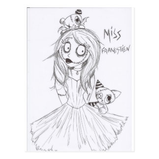 miss franestien postcard