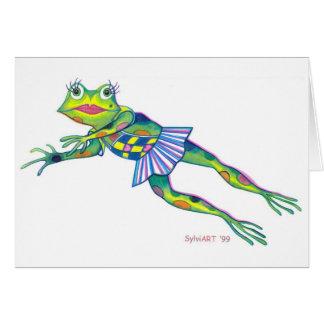 """Miss Froggy"" copyright ©2003 SylviART™ Card"