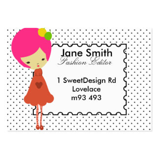 Miss Fruity for Fashion Large Business Cards (Pack Of 100)
