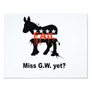 """Miss G.W. yet 4.25"""" X 5.5"""" Invitation Card"""