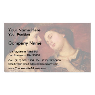 Miss Georgina Treherne by George Frederick Watts Double-Sided Standard Business Cards (Pack Of 100)