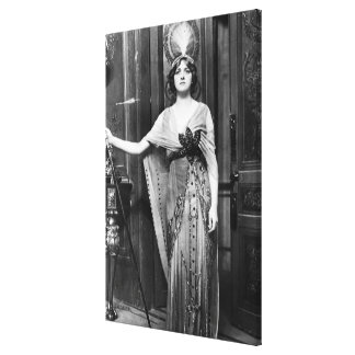 Miss Gladys Cooper [1888-1971] in Fancy Dress Canvas Print