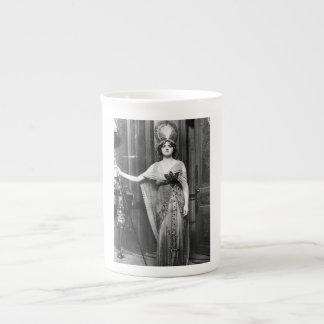 Miss Gladys Cooper [1888-1971] in Fancy Dress Tea Cup