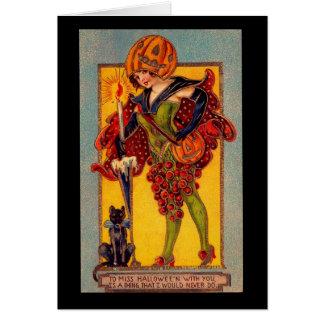 Miss Halloween Card