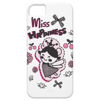 Miss Happiness Quirky Graphic I Phone. iPhone 5 Cases