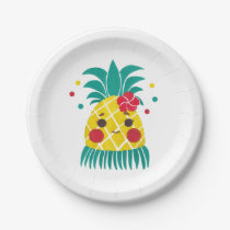 Miss Hawaiian Pineapple Paper Plate