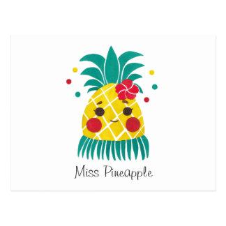 Miss Hawaiian Pineapple Postcard
