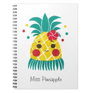 Miss Hawaiian Pineapple Spiral Notebook