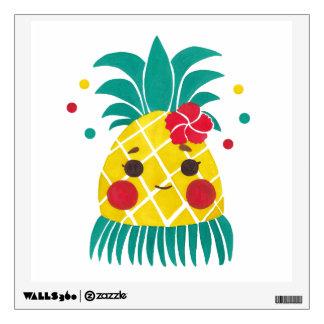 Miss Hawaiian Pineapple Wall Decal