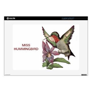 "MISS HUMMINGBIRD - Personified Bird 15"" Laptop Skins"