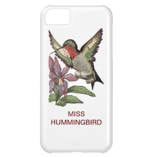 MISS HUMMINGBIRD - Personified Bird iPhone 5C Cover