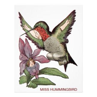 MISS HUMMINGBIRD - Personified Bird Letterhead