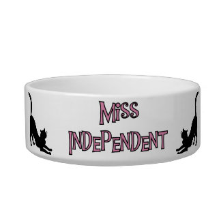 Miss Independent Cat Dish Pet Bowl