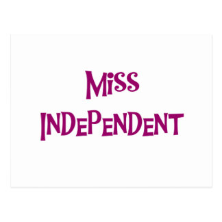 Miss Independent Tshirts and Gifts Postcard