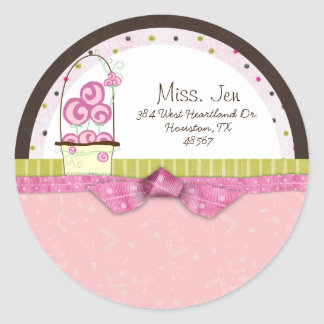 Miss. Jen Basket Mailing Label Stickers