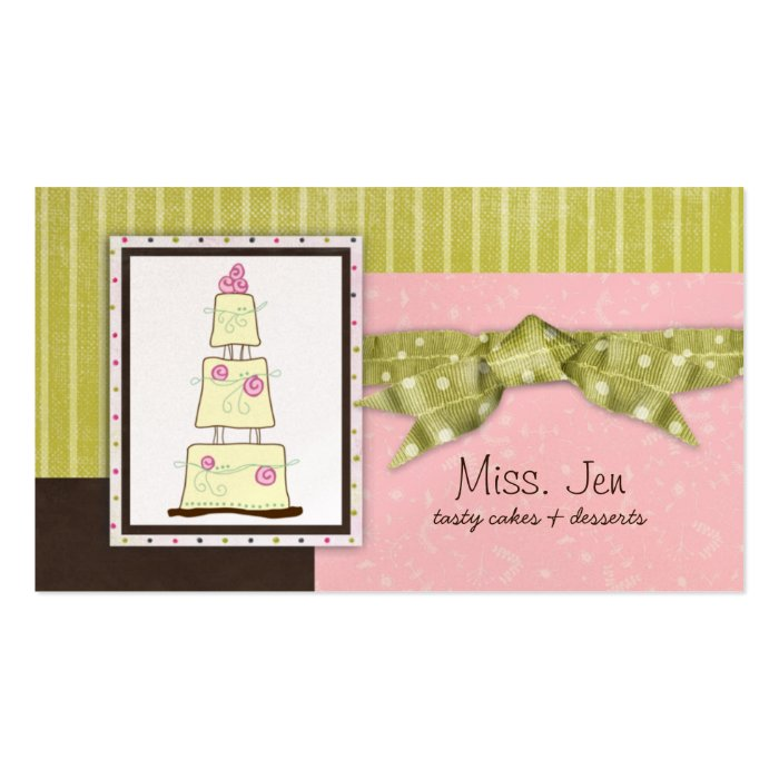 Miss. Jen Cake Business Cards