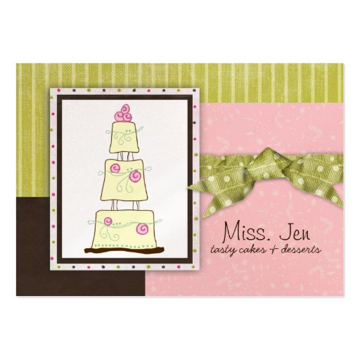 Miss. Jen Cake Chubby Business Cards