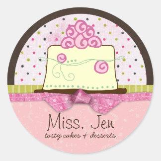 Miss. Jen Cake Large Merchandise Labels / Stickers