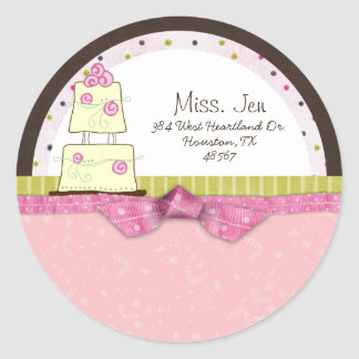Miss. Jen Cake Mailing Labels / Stickers