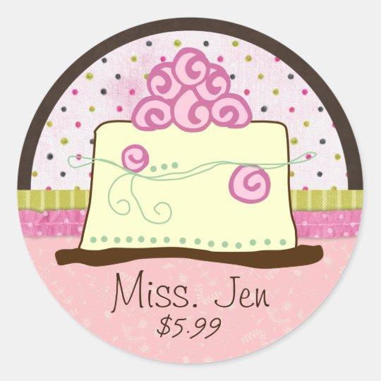 Miss. Jen Cake Small Merchandise Labels / Stickers