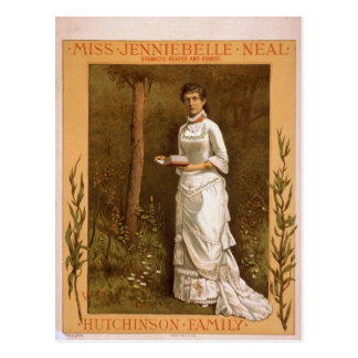 Miss Jenniebelle Neal with Hutchinson Family Postcard