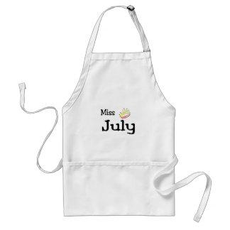 Miss July Adult Apron