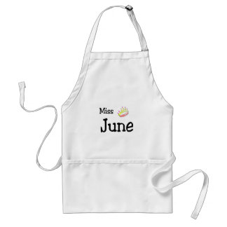Miss June Adult Apron