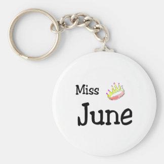 Miss June Keychain