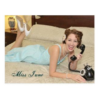 Miss June-Postcard Postcard