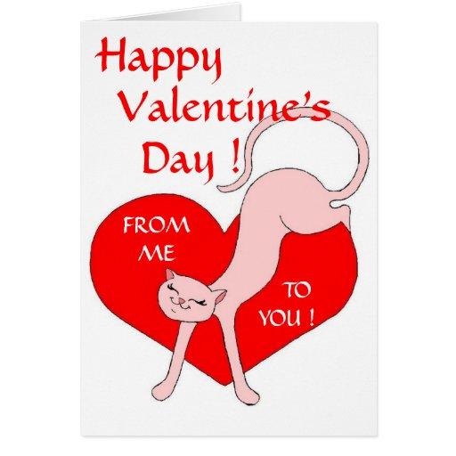 Miss Kitty's Valentine Love Greeting Card