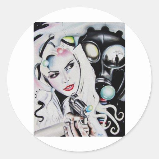 Miss Krystle Classic Round Sticker