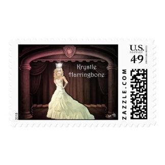 Miss Krystle Harringbone:  Virtual Drag Queen Postage