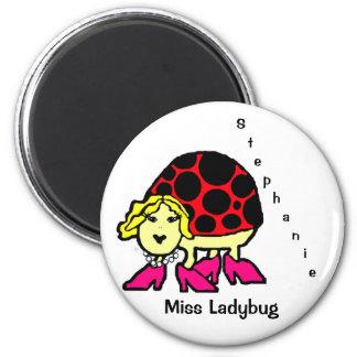 Miss Ladybug 2 Inch Round Magnet