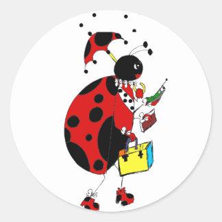 Miss Ladybug Classic Round Sticker