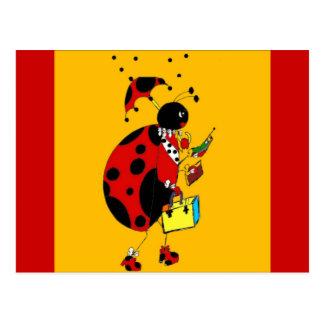 Miss Ladybug Postcard