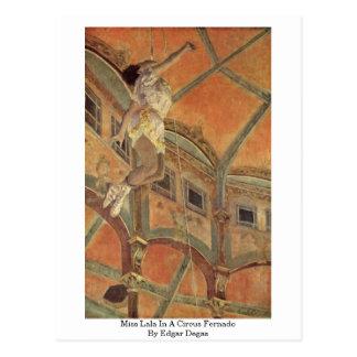 Miss Lala In A Circus Fernado By Edgar Degas Postcard