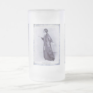 Miss Lillah McCarthy Frosted Glass Beer Mug