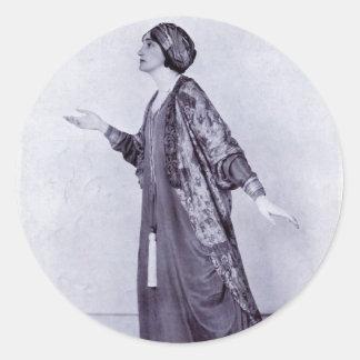 Miss Lillah McCarthy Classic Round Sticker